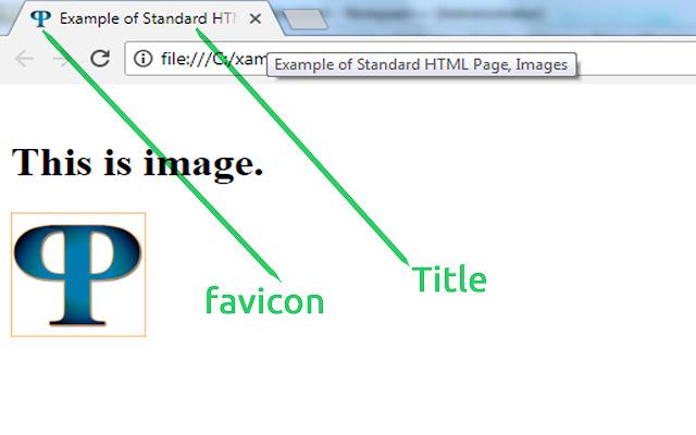 HTML5 Head tag - Favicon and Title