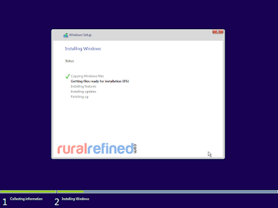 tunggu install windows 10