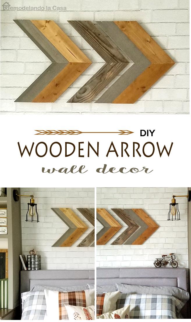 Diy Wooden Arrow Wall Art Remodelando La Casa