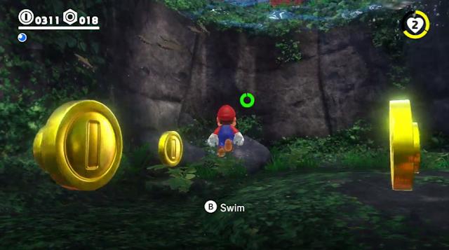 Super Mario Odyssey swimming mechanics realistic fish