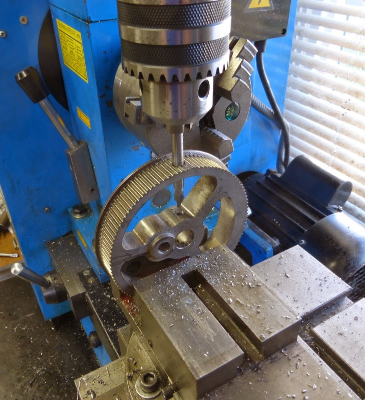 center drilling flywheel