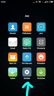 Gambar 1. Buka menu Setelan