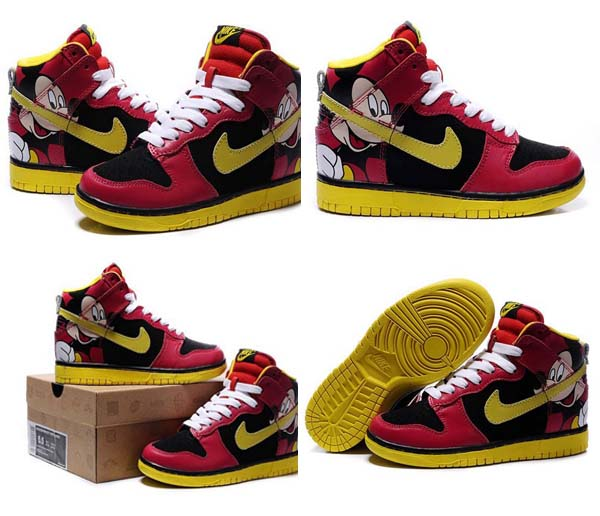 Excellent Mickey Mouse Nike Dunks/Nike Dunk High Disney Mickey Mouse For Men  OP08