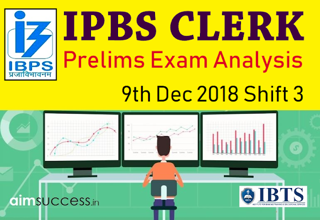 IBPS Clerk Prelims Exam Analysis & Review 2018: 9th Dec Shift 3