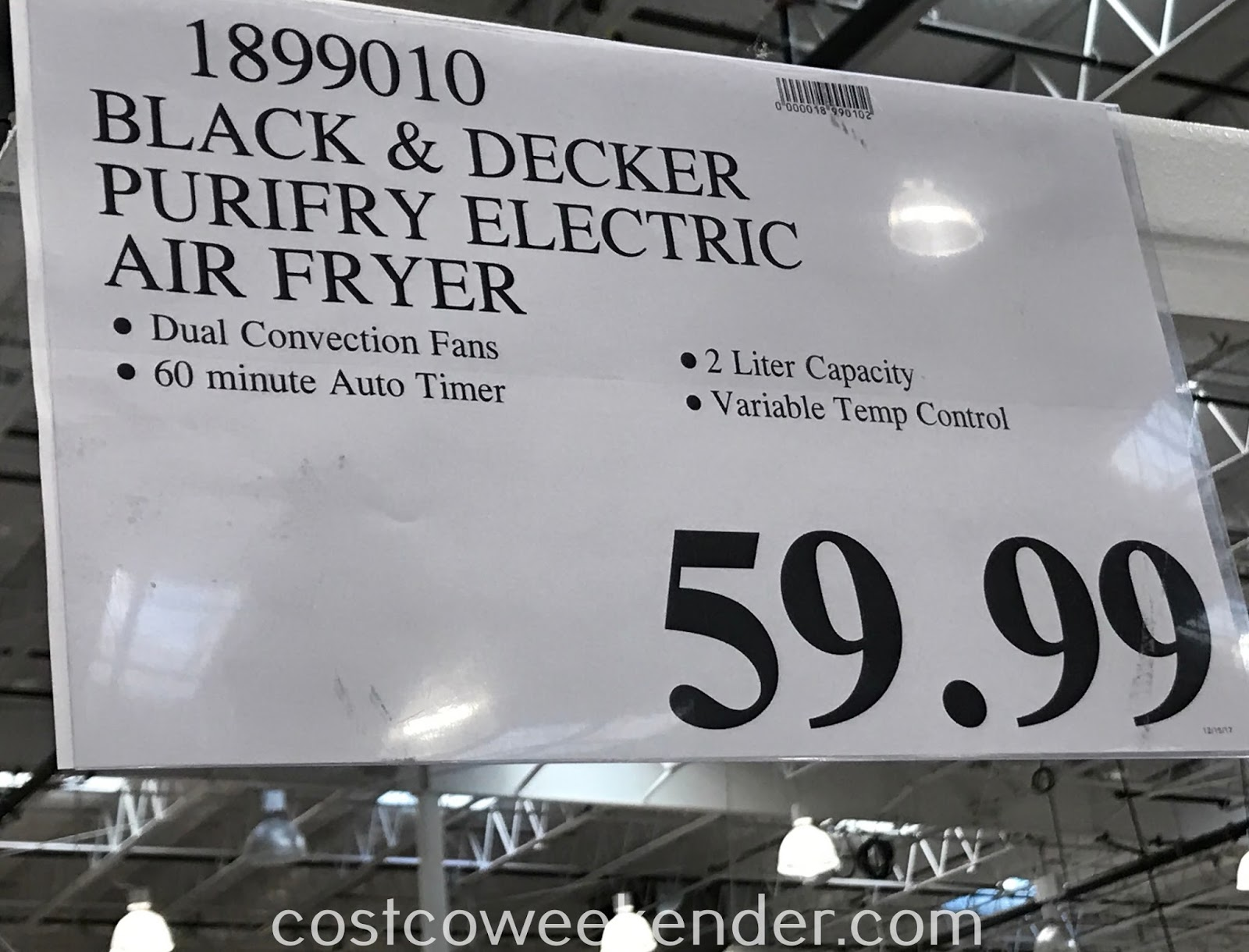 Deal for the Black & Decker Purify 2L Capacity Air Fryer at Costco