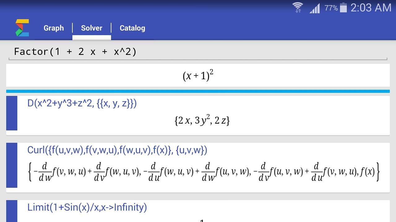 Free math solver