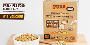Try Pure Pet Food today and get £15 off any starter packs with my affiliate link!