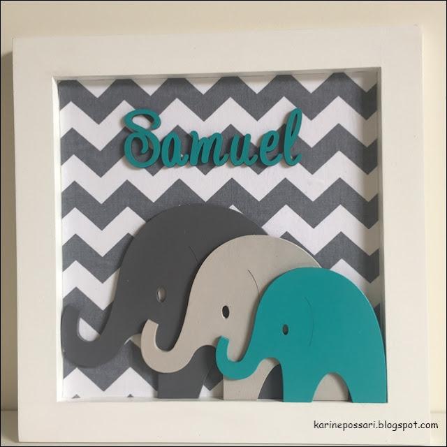 família de elefantinhos