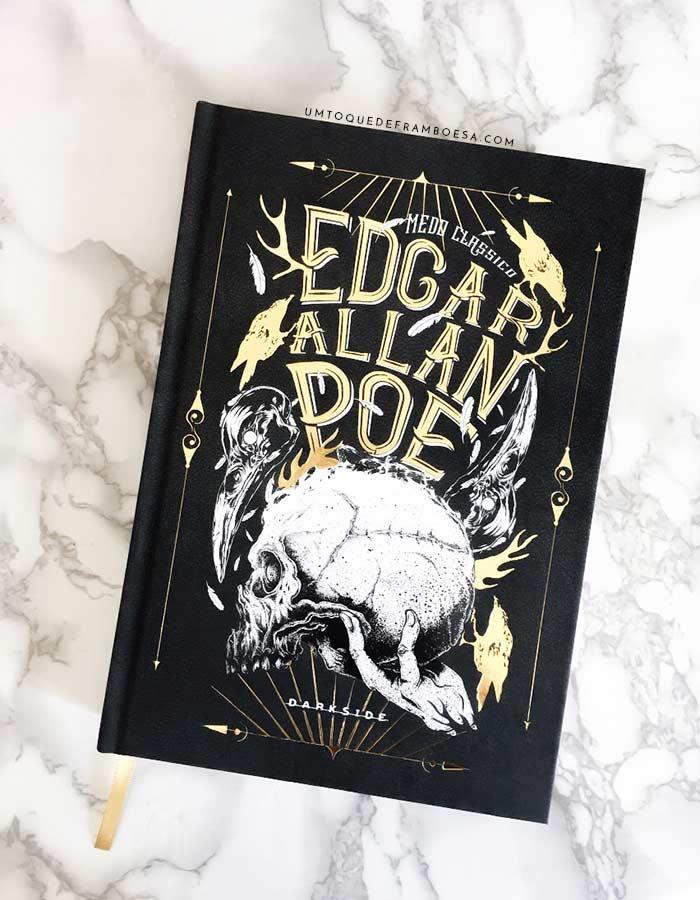Capa do livro Edgar Allan Poe, edição da Darkside, que conta com vários contos desse grande autor de contos de terror e suspense
