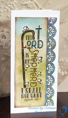 ODBD My Shepherd Bible Journaling Stamp, Card Designed by Sabrina Friel aka Cook22