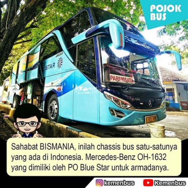 Mercedes Benz OH 1632 dari PO Blue Star