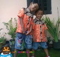 kemeja batik anak