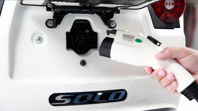 Carga de batería para el motor eléctrico - Electra Meccanica Solo