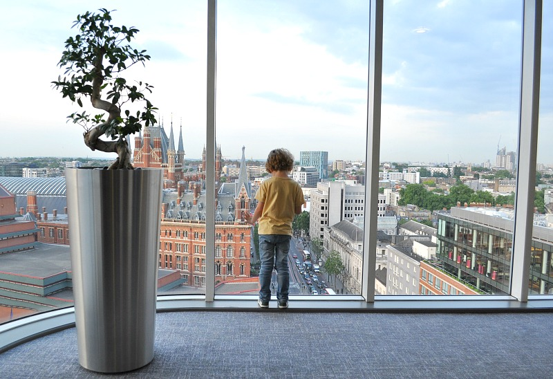 Incredible London views from the 14th floor of the Pullman London St Pancras Hotel