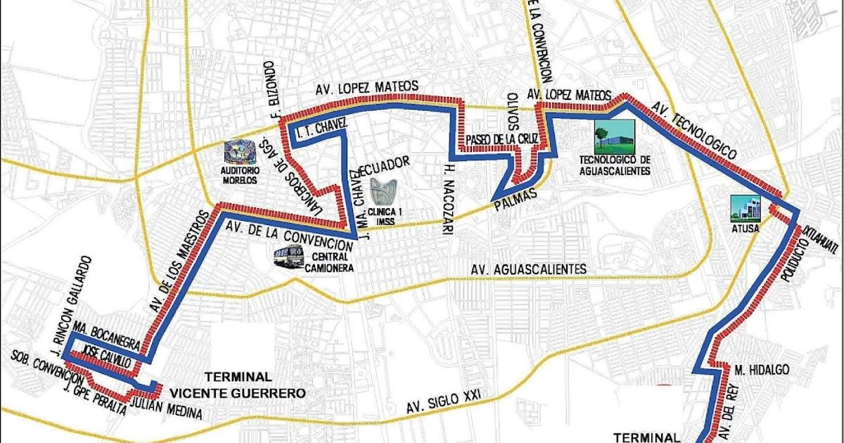 Ruta 12 Rutas De Camiones Aguascalientes
