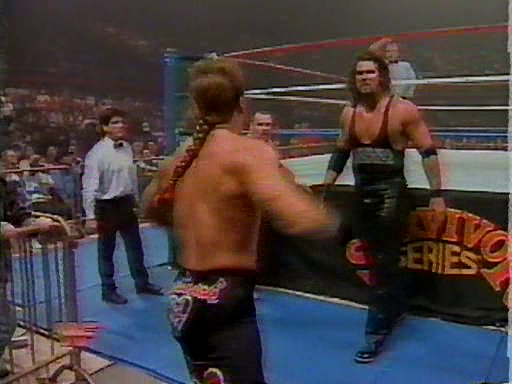 WWF / WWE - Survivor Series 1994: Diesel chases Shawn Michaels out of the arena.