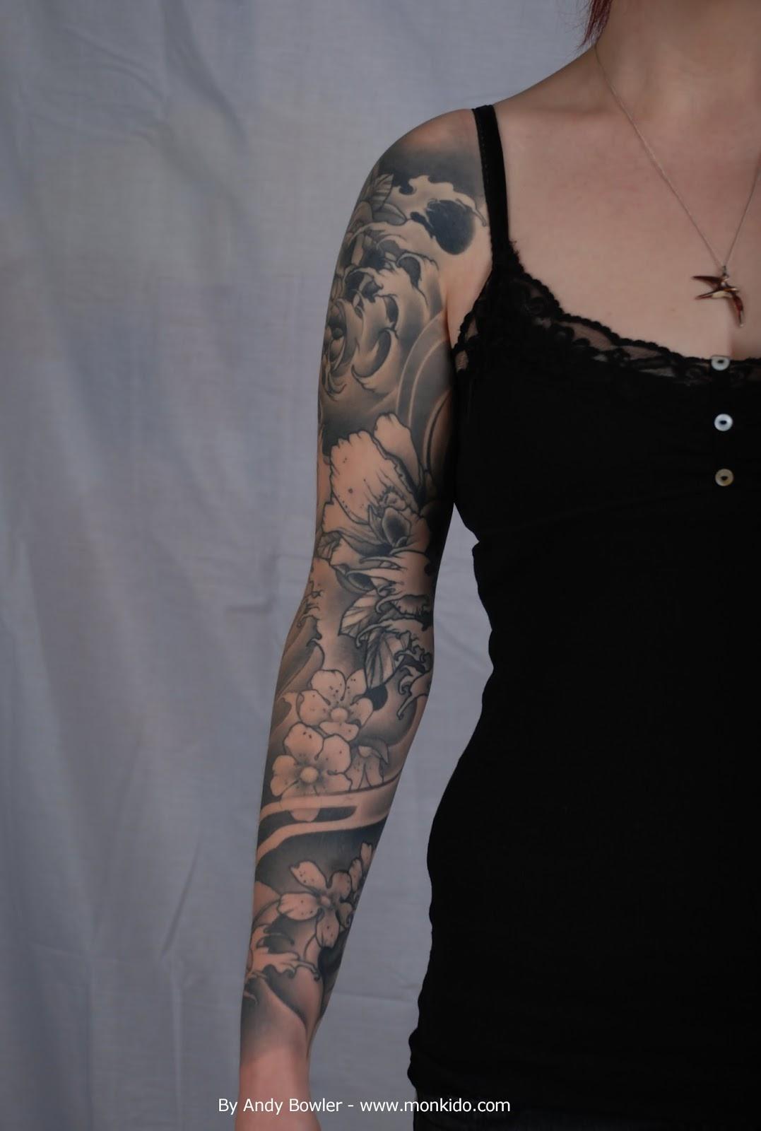 sleeve japanese tattoo andy tattoos bowler custom studio grey monki arm dragon asian designs