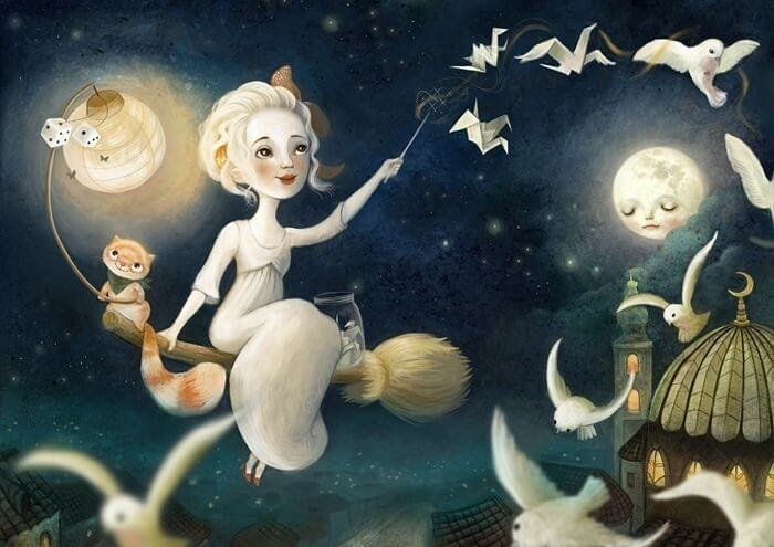 04-The-Witch-is-out-on-the-town-Lisa-Falzon-Fantasy-Digital-Art-with-a-Sprinkle-of-Surrealism-www-designstack-co