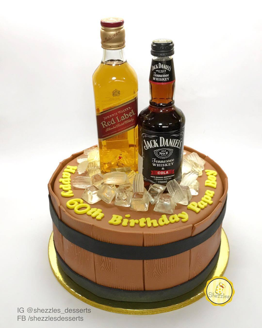 Whiskey Chocolate Cake In A Jar