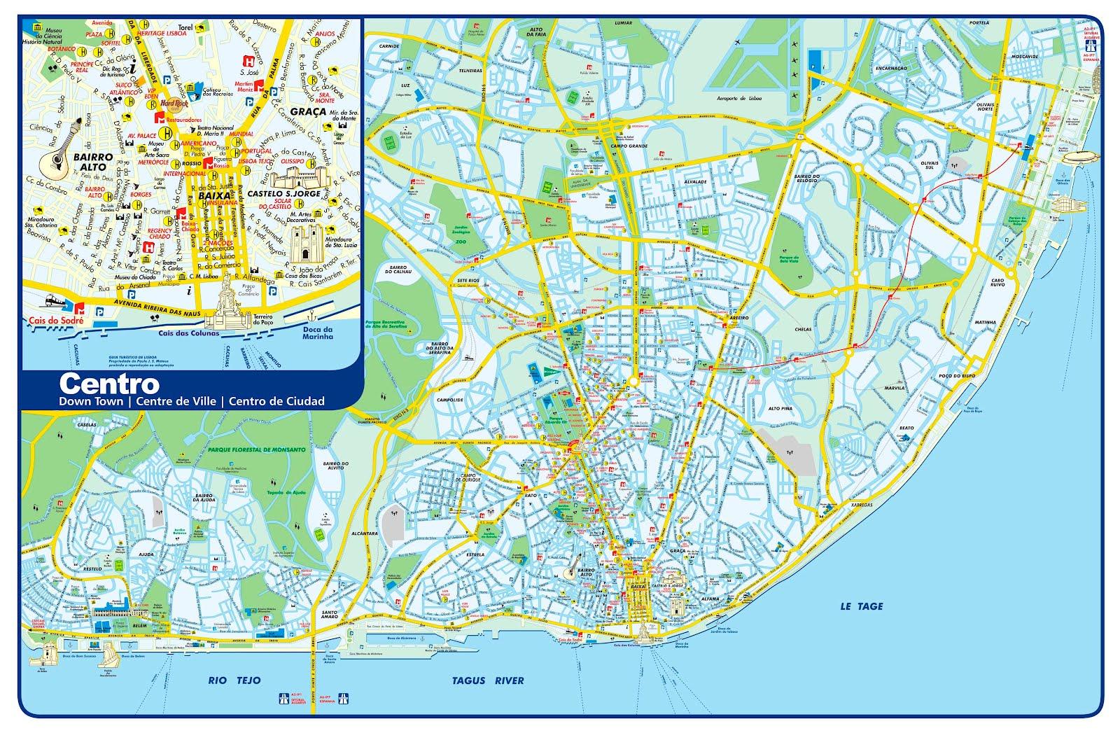 Mapas De Lisboa Portugal Mapasblog