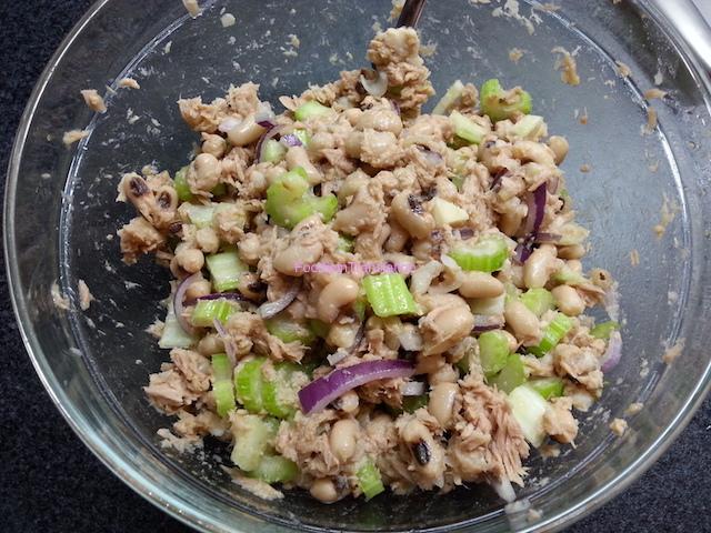 Insalata di tonno e fagioli croccante - Beans and tuna crunchy salad