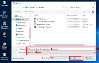 Membuka Banyak Aplikasi Dengan 1 Klik Di Windows 10