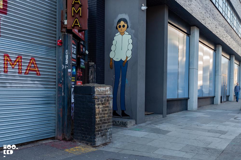 Shoreditch Street Art, French Street Art Duo Kamlaurene Paste-ups in London