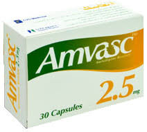 أقرص أمفاسك Amvasc لعلاج الذبحة الصدرية