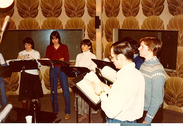 Circa1979 Recording Christmas carols at CFRA/CFMO radio for broadcast later