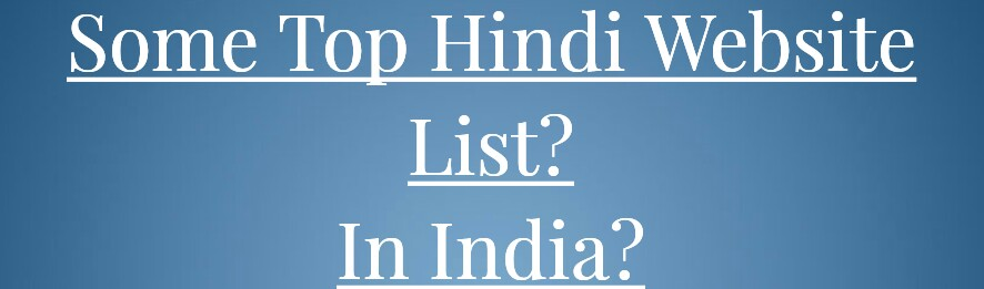 list of hindi website in india