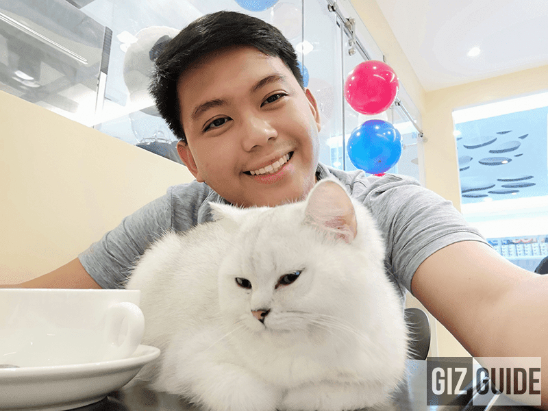 Indoor selfie with Silver of Happy Cat Cafe