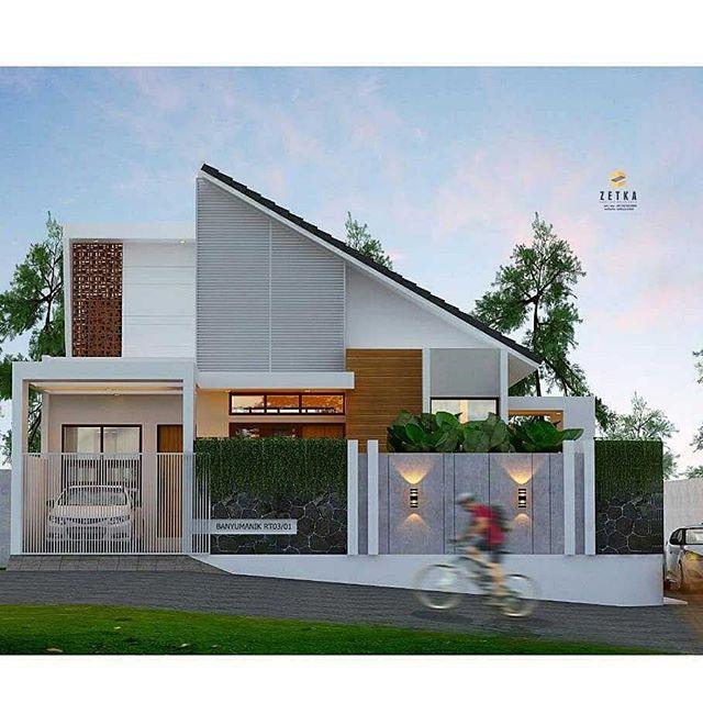 Desain Rumah Minimalis Atap Miring Sebelah | Wild Country Fine Arts