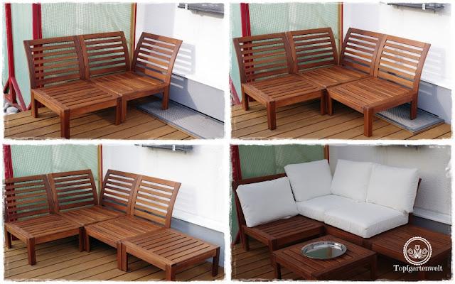 Gartenblog Topfgartenwelt Loungemöbel für den Garten - Stück für Stück wird es fertig