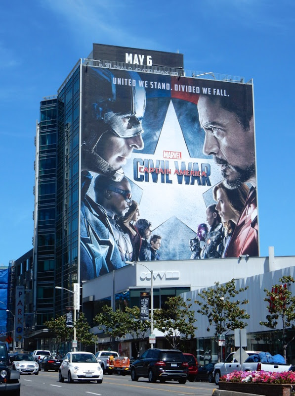 Giant Captain America Civil War movie billboard