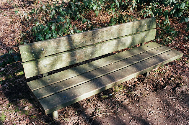 London bench Hampstead Heath