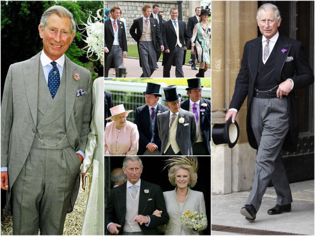 The Royal Family Wearing All Variations Of Morning Dress Suit And Coat