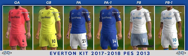 Everton Update Away Kit 2017-18 PES 2013