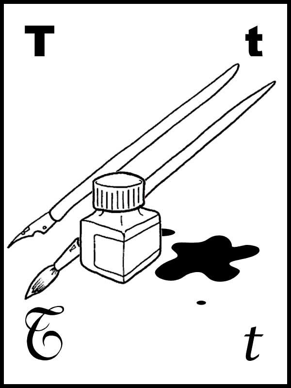 Desenhos Letra T Colrorir E Pintar Qdb
