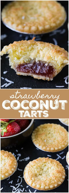 Strawberry Coconut Tarts
