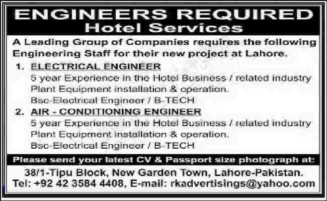 Iklan Lowongan Pekerjaan Dalam Bahasa Inggris sebagai electrical enginer