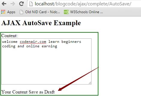 php Ajax Auto Save tutorial