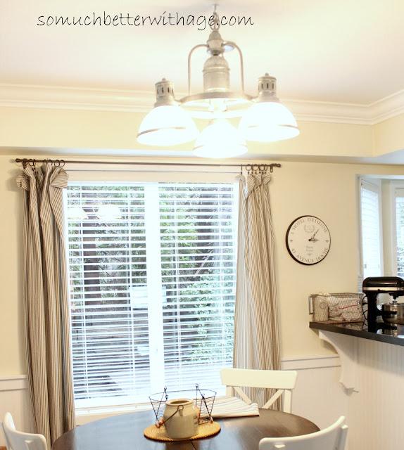 Kitchen lighting www.somuchbetterwithage.com