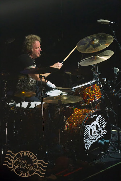 365 photo challenge, Lisa On Location photography, New Braunfels, Texas. Joey Kramer performs during the Aerosmith concert at the Frank Erwin Center, Austin, Texas, November 16, 2012.