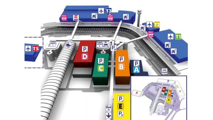 mapa aeropuerto de Fiumicino