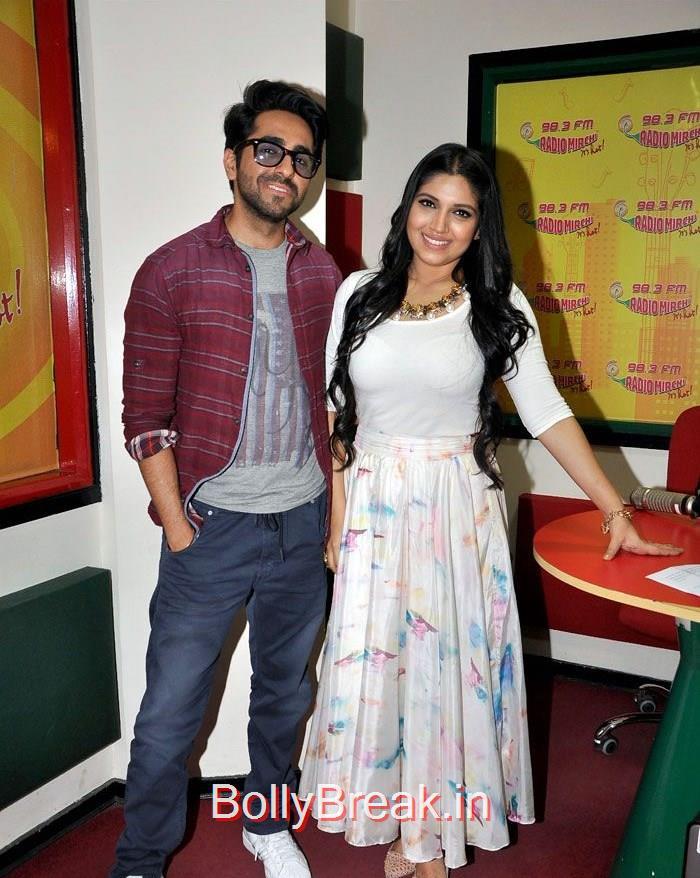 Ayushmann Khurrana, Bhumi Pednekar, Hot HD Pics Of Bhumi Pednekar At 'Dum Laga Ke Haisha' Promotions at Radio Mirchi