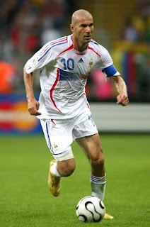 Greatest footballers Zinedine Zidane