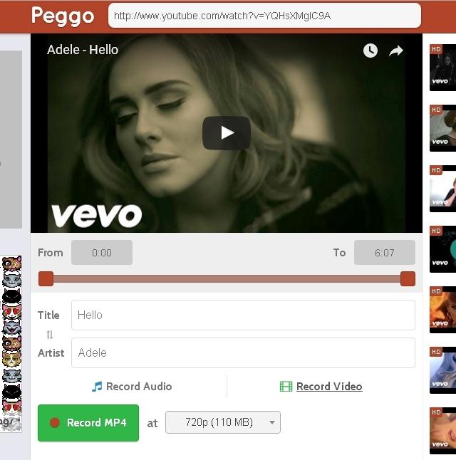 Webs para descargar vídeos de YouTube - Peggo - Solo Nuevas