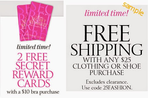Victoria secret coupon code shipping
