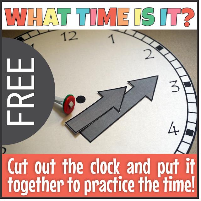 https://www.teacherspayteachers.com/Product/FREE-Telling-Time-Clock-Template-4050721