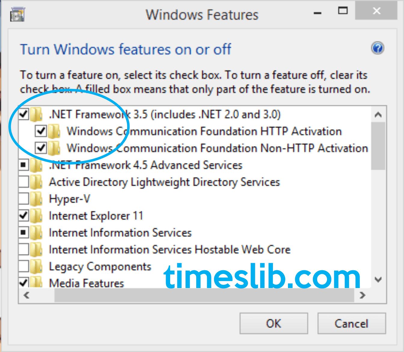Trik atasi gagal instal CorelDraw di Windows 8.1 - karena belum terinstal .NET Framework 3.5